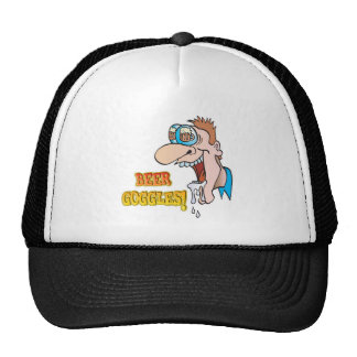 BEER GOGGLES funny drinking design Cap