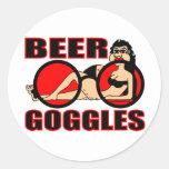 BEER GOGGLES ROUND STICKER