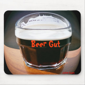 Beer Gut Mousepad by Zoltan Buday