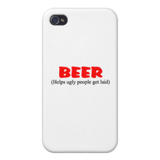 beer helps ugly people iPhone 4 cover