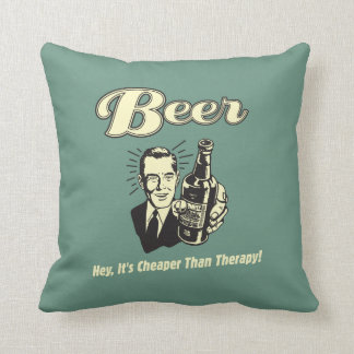 Beer: Hey It's Cheaper Than Therapy Cushion