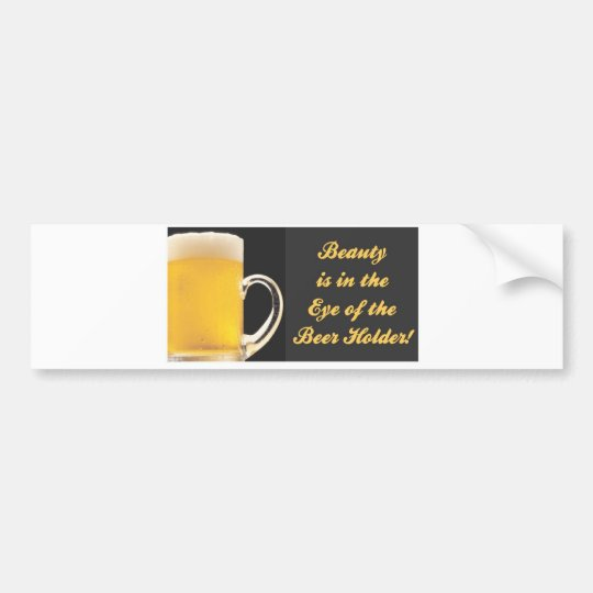 beer holder bumper sticker
