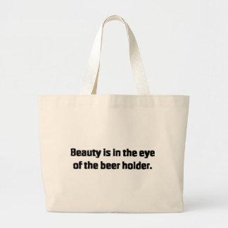 Beer Holder Jumbo Tote Bag