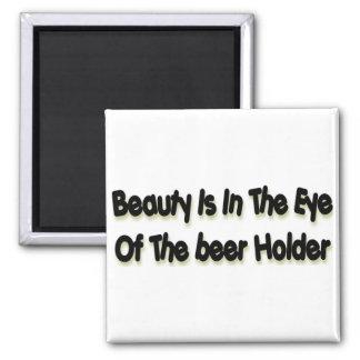 Beer Holder Square Magnet
