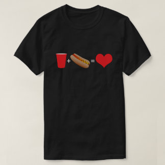 beer + hot dogs = love T-Shirt