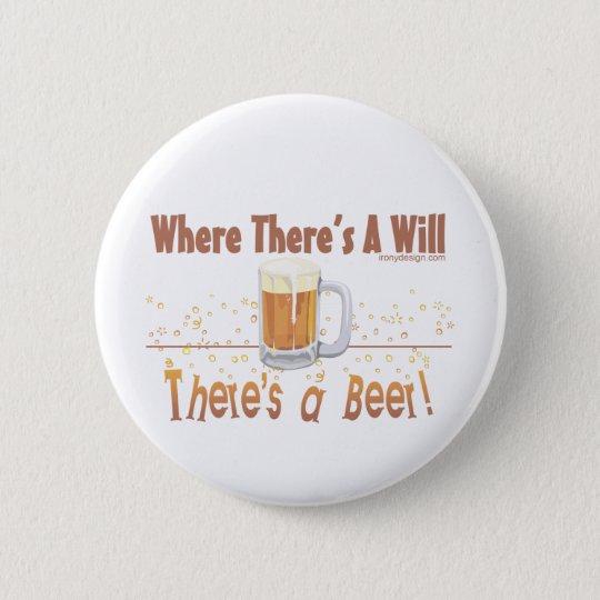 Beer Humour 6 Cm Round Badge