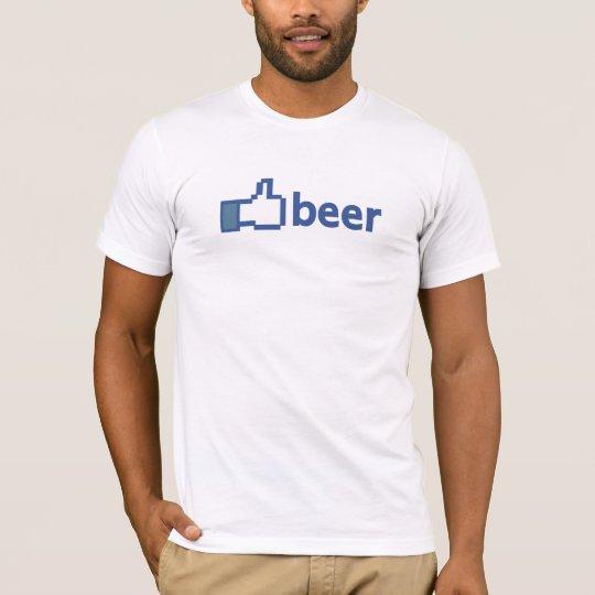 Beer, I like. Facebook t-shirt