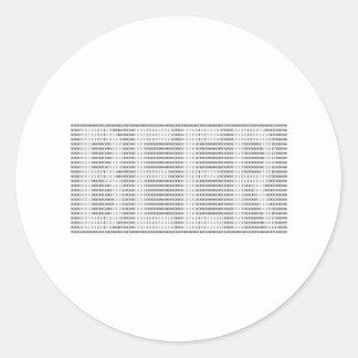 Beer in Binary - ASCII Round Sticker