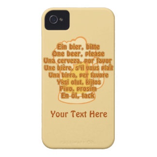 BEER in languages custom iPhone case-mate