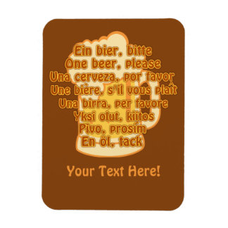BEER in languages custom magnet