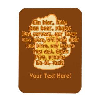 BEER in languages custom magnet