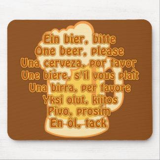 BEER in languages custom mousepad
