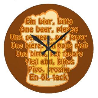BEER in languages custom wall clock