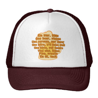 BEER in languages hat - choose color
