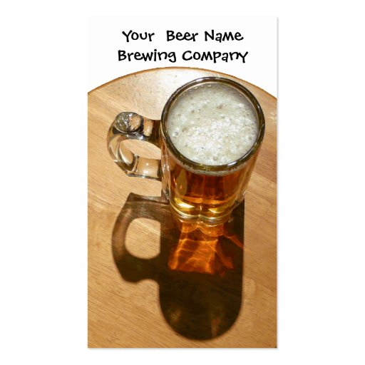 Beer in Mug for Brewery or Brew Your Own Business Card Templates