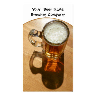 Beer in Mug for Brewery or Brew Your Own Pack Of Standard Business Cards