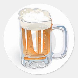 Beer In Mug/Oktoberfest Classic Round Sticker
