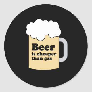 BEER IS CHEAPER THAN GAS STICKER