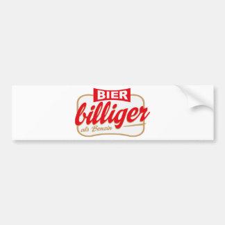 Beer is cheaper than gasoline bumper sticker