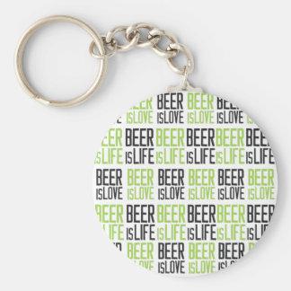 Beer is love, beer is life key ring