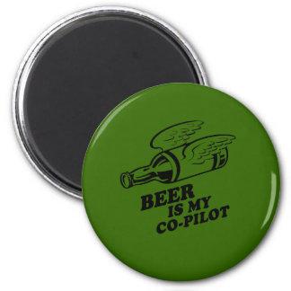 BEER IS MY COPILOT REFRIGERATOR MAGNET