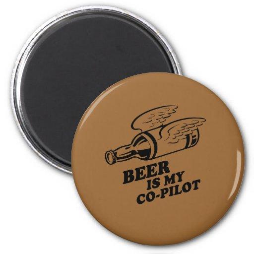 BEER IS MY COPILOT MAGNET