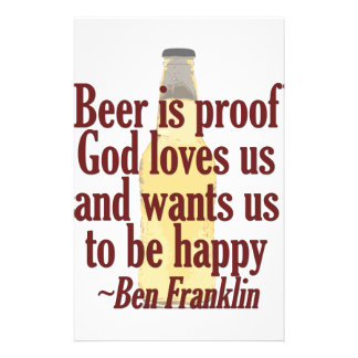 Beer is Proof Customised Stationery