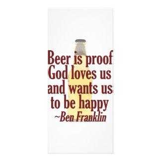 Beer is Proof Full Color Rack Card