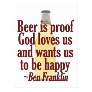 Beer is Proof Postcard