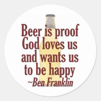 Beer is Proof Stickers