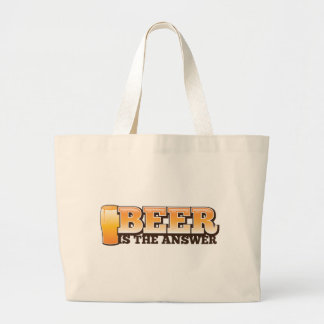 BEER IS THE ANSWER The Beer Shop design Large Tote Bag