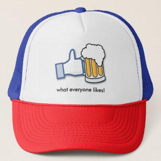 Beer is what everyone likes trucker hat