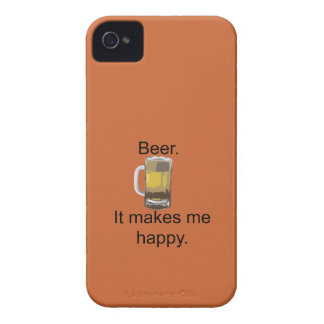 Beer. It Makes Me Happy. iPhone 4 Case-Mate Cases