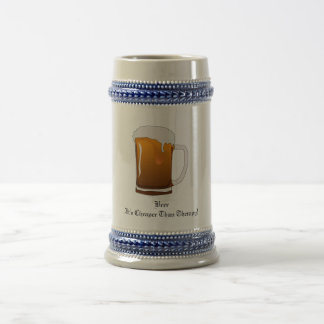 Beer It s Cheaper Than Therapy Coffee Mugs