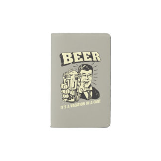 Beer: It's A Vacation In Can Pocket Moleskine Notebook