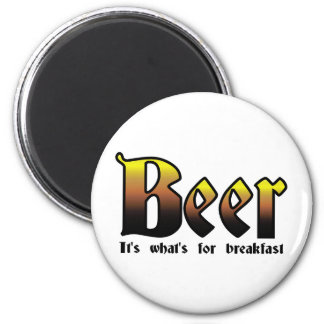 Beer - It's what's for breakfast 6 Cm Round Magnet
