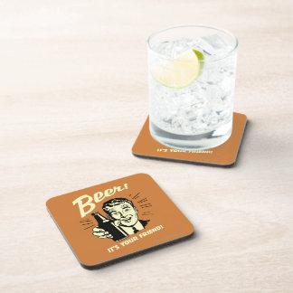 Beer: It's Your Friend Drink Coaster