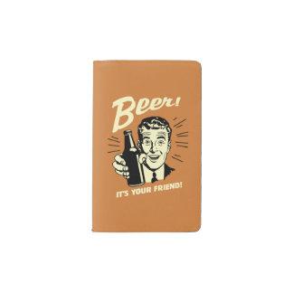 Beer: It's Your Friend Pocket Moleskine Notebook