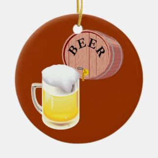 Beer keg and beer stein christmas ornament