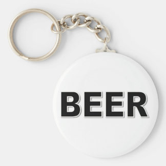 BEER BASIC ROUND BUTTON KEY RING