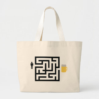 beer labyrinth icon canvas bag