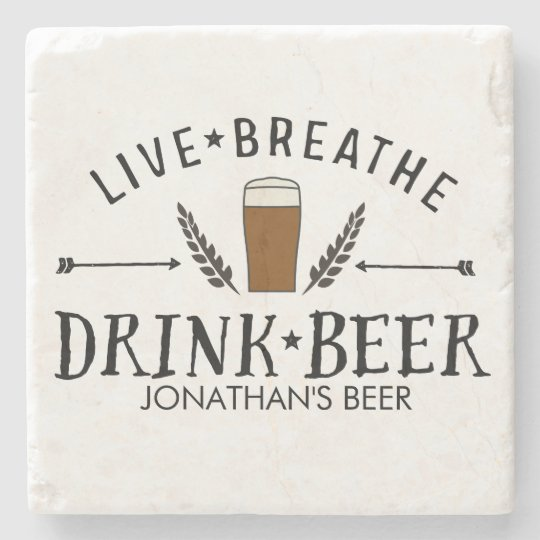 Beer Love Hipster Live Breathe Drink Beer Custom