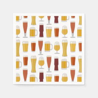 Beer Lover Print Napkins Disposable Serviettes