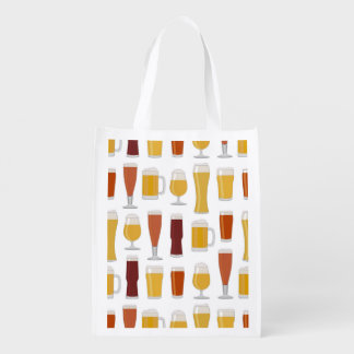 Beer Lover Print Reusable Grocery Bag
