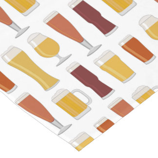 Beer Lover Print Short Table Runner