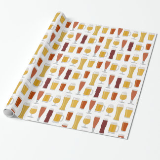 Beer Lover Print Wrapping Paper