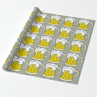 Beer Lovers Funny Beer Mug Wrapping Paper