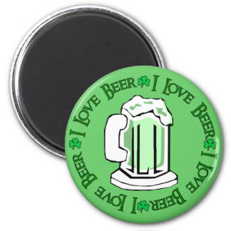 Beer Lovers 6 Cm Round Magnet
