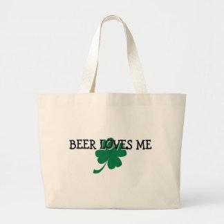 Beer Loves Me Jumbo Tote Bag