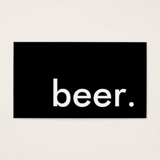 beer. loyalty punch card